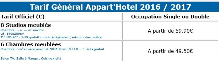 tarif hôtel